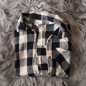 Tops - Flannel Cropped Button Up
